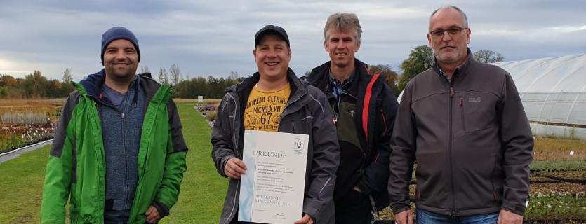 Verleihung des Qualitätszeichen Stauden 2019 an Karsten Klimke Staudengärtnerei Trebbin